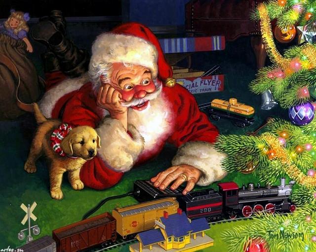 Santa en Navidad 01