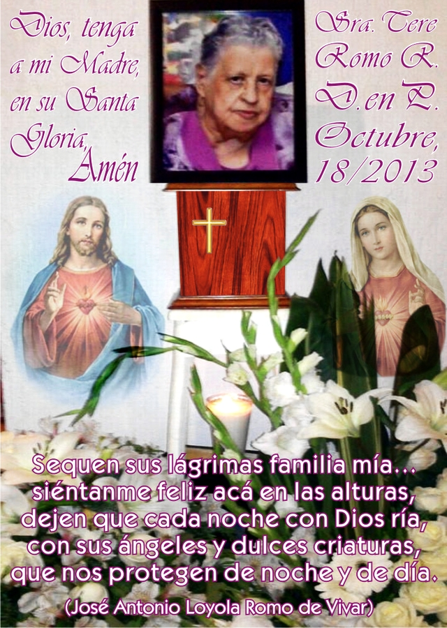 2013 10 18 Mi Mamá, en La Gloria Eterna 01