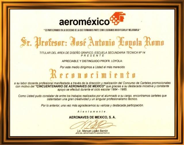 1985 06 05 Reconocimiento de Aeroméxico (01)