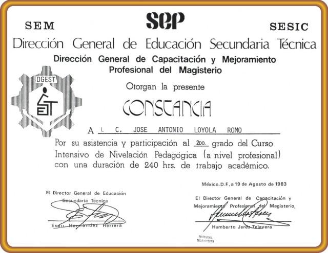 1983 08 19 Constancia N. P. 2do. Grado (01)