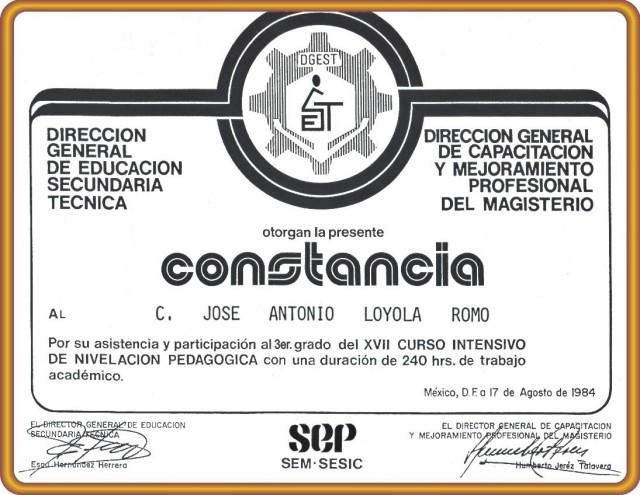 1984 08 17 Constancia N. P. 3er. Grado (01)