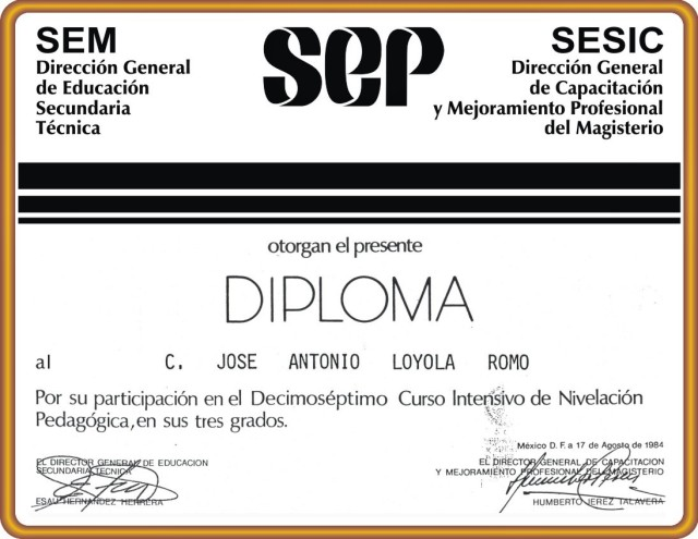 1984 08 17 Diploma N. P. 3 Grados (01)