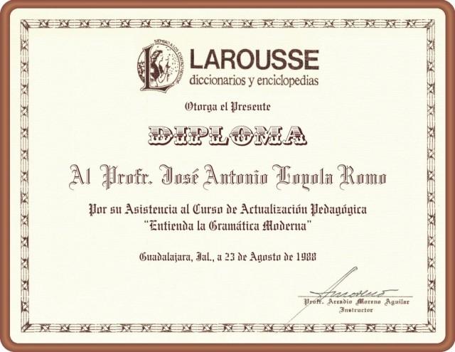 1988 08 23 DIPLOMA Larousse (01)